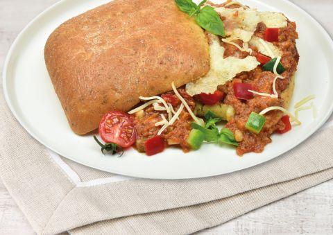 Italiaans broodje met rundergehakt