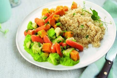 Quinoa met een mix van verschillende groenten (op=op)