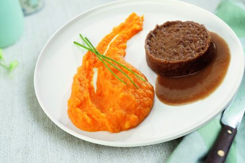 Hutspot met rundvlees in jus