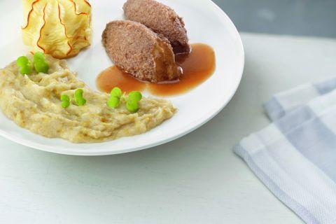 Rundergehakt met witlof en aardappelpuree (gemalen)