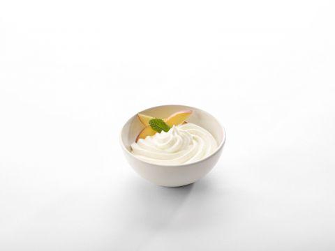 Yoghurt/perzik mousse